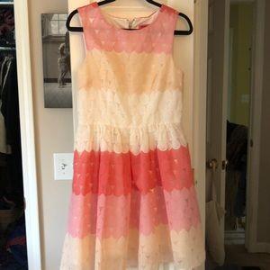 Betsy Johnson pink and cream dress